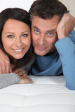 Married couple in bed Stock Photos