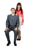Married couple in business attire in the studio Royalty Free Stock Image