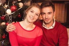 Married couple celebrating xmas Royalty Free Stock Photo