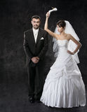Married couple conflict Royalty Free Stock Images