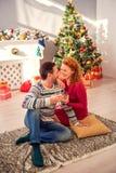 Married couple enjoying New Year celebration Stock Photography