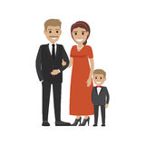 Married Couple in Expensive Cloth and Little Son Royalty Free Stock Photo