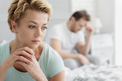 Married couple experiencing crisis in relationship Royalty Free Stock Images