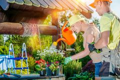 Married Couple Garden Hobby Royalty Free Stock Photo