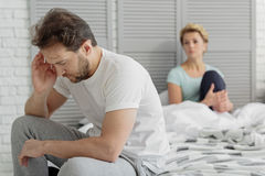 Married couple has crisis in relationships Royalty Free Stock Photography