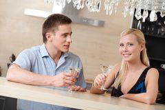 Married couple has dating dinner Royalty Free Stock Photos