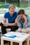 Married couple having financial troubles Royalty Free Stock Images