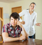 Married couple having quarrel Royalty Free Stock Photo