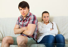Married couple having quarrel Royalty Free Stock Photos