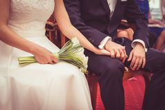 Married Couple Holding Hands  Stock Photos