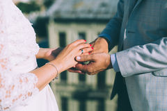 Married couple holding hands Royalty Free Stock Photos