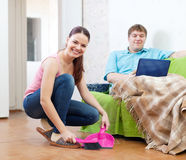 Married couple at home Stock Image