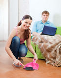 Married couple at home Stock Photography