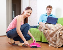 Married couple at home Stock Photo