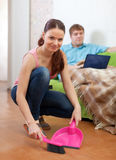 Married couple at home Stock Images
