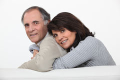Married couple hugging Stock Photography