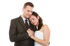 Married couple hugging Stock Photo