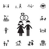 Married couple icon. Detailed set of Family icons. Premium quality graphic design sign. One of the collection icons for websites,. Web design, mobile app on Stock Photography