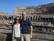 Married Couple inside the Colosseum Royalty Free Stock Image