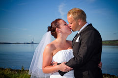 Married couple kiss Royalty Free Stock Photo