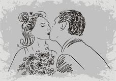 Married couple kissing Royalty Free Stock Photo