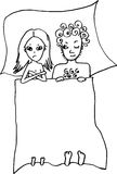 Married couple. Are laying in their bed Royalty Free Stock Photo