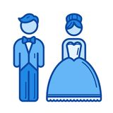 Married couple line icon. Stock Photos