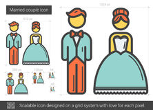 Married couple line icon. Royalty Free Stock Photos