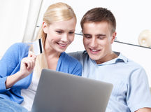 Married couple makes purchases Royalty Free Stock Photo