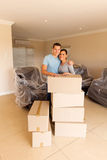 Married couple moving Stock Photos
