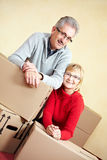Married couple moving house Royalty Free Stock Images