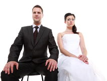 Married couple problem, indifference depression discord Stock Photo