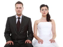 Married couple problem, indifference depression discord Royalty Free Stock Photo