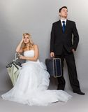 Married couple problem, indifference depression discord. Bad relationship concept - married couple problem indifference depression and discord. Man women in Royalty Free Stock Images