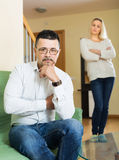 Married couple after quarrel Royalty Free Stock Photo