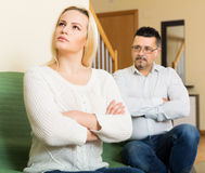 Married couple after quarrel Royalty Free Stock Images