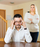 Married couple after quarrel Royalty Free Stock Photography