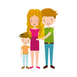 Married couple with son. Vector illustration design Royalty Free Stock Images