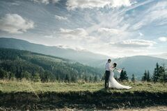 Free Married Couple Stay On The Mountain Stock Photo - 170810110