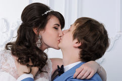 Married couple in studio Royalty Free Stock Photo