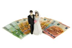 Married couple and money Royalty Free Stock Photos