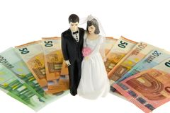 Married couple and money Stock Photo
