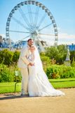 Married couple in the Tuileries garden of Paris Stock Images