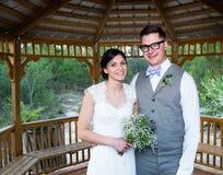 Married Couple Under Gazebo Stock Image