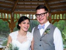 Married Couple Under Gazebo Stock Photography