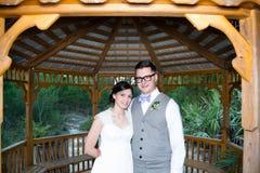 Married Couple Under Gazebo Stock Photo