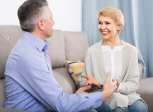 Married couple understand and love each other and are happy in h royalty free stock photo