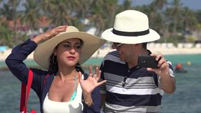 Married Couple Vacation Selfie stock video footage