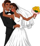 Married Couple. Vector illustration of a happy black married couple Royalty Free Stock Photo