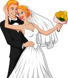 Married Couple. Vector illustration of a happy blonde married couple Royalty Free Stock Photos